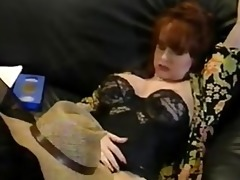 sarah jane hamilton fucks john dough on the sofa