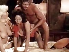 three-some porn video with vintage pornstars