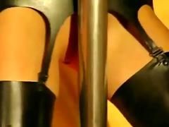 pole dancer in darksome latex!