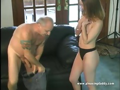 small titted brunette hair chase engulf old cock