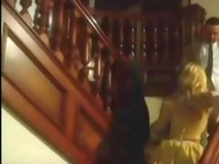 golden-haired jill kelly vintage threesome with