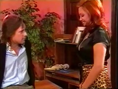 1990s porn redhead boss interviews for a facial