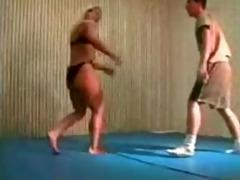 mixed wrestling fbb christine fetzer bodybuilder