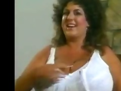 retro mom with giant mega-boobs with big areolas