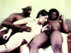 adorable retro threesome fucking