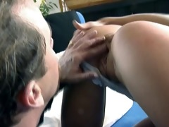 kimberly kyle acquires ass drilled by tom byron