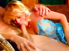 charming retro golden-haired hawt riding