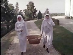 two hairy nuns ..vintage
