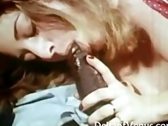 vintage interracial porn - pale unshaved pussy