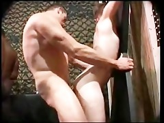 black white bareback rough group fuck