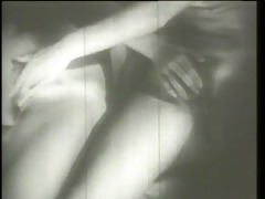 extremely vintage darksome and white porn
