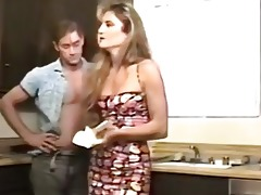 80s porn classic in the kitchen