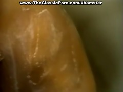 retro cum produced for sexy blonde