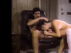 sexually excited lengthy legged brunette sucking