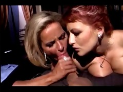 mature pair sharing busty redhead