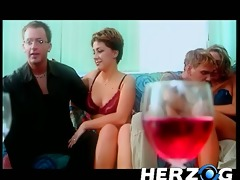 amazing beauties have fun with two wealthy guys