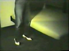 retro slim black lady with large tits