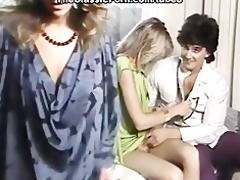 retro blonde bent over and owned
