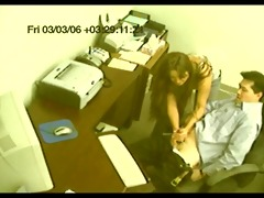 fake voyeur secretary gives handjob cfnm