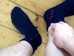 offloading on my blue vintage socks
