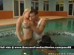 horny harlots in the pool