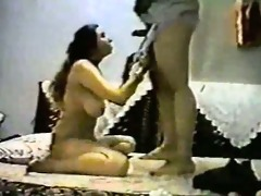 vintage arab amateur couple make hard homemade