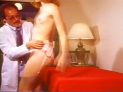 dr. flasher gives her a full examination